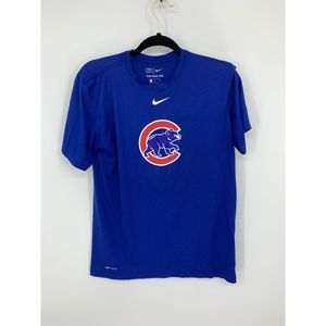 Nike athletic fit chicago cubs blue M shirt